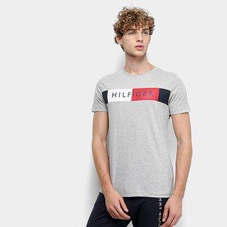 7dc14ddae Camiseta Tommy Hilfiger Estampa Stripe Masculina