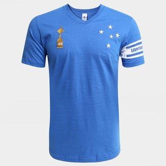 Camiseta Cruzeiro Capitães Libertadores 1976 Masculina d36b6b3cbc49e