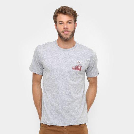 5cdceabbb9eb1 Camiseta Quiksilver Básica Palm Masculina - Cinza - Compre Agora ...