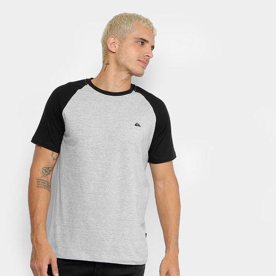 Camiseta Quiksilver Especial Everyday Raglan Masculina - Cinza ... 57faa0c3ef