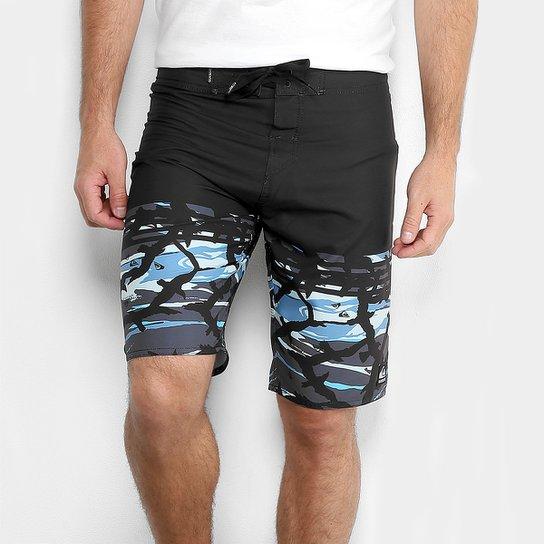 Boardshort Quiksilver Gulmo Masculino - Azul e Preto - Compre Agora ... d3c3029320