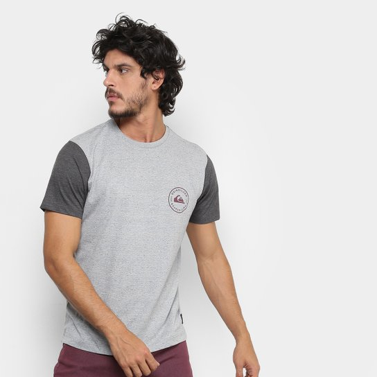 5f3febe5cf Camiseta Quiksilver Especial Chose Masculina - Cinza - Compre Agora ...