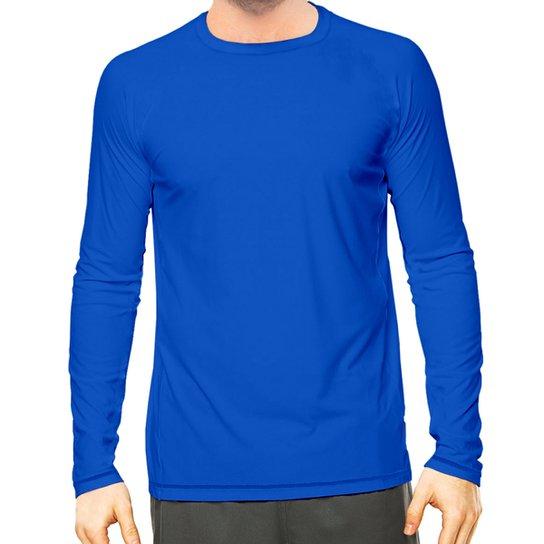 152241ae21 Camisa Térmica Camisa da Latinha com Proteção Solar UV50+ Masculina - Azul  Royal