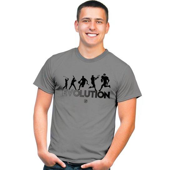 670fb10b6bdc4 Camiseta Evolution - Futebol Americano - Cinza - Compre Agora