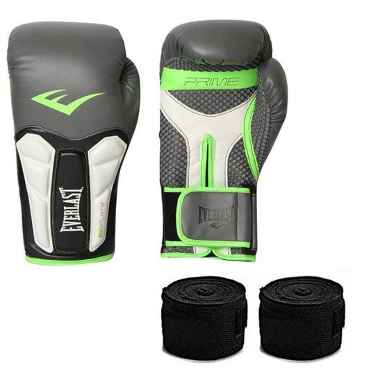 a286319384a88 Kit Muay Thai Luva Everlast Prime Bandagem 12OZ - Compre Agora ...