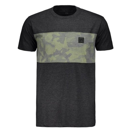 Camiseta Hang Loose Army Masculina - Cinza - Compre Agora  80c7c94645f8d