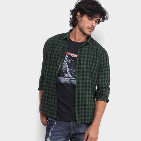 Camisa Xadrez Reserva Regular Fit Vichy Gase Masculina - Verde escuro bd422b0b16ea1