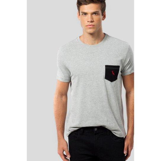 Camiseta Ms Bolso Pt Pica-Pau Bordado Reserva Masculina - Cinza ... f8cf805220a88