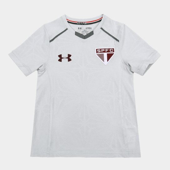 29a3b7eaa4d Camisa de Treino São Paulo Infantil 17 18 Under Armour - Cinza ...