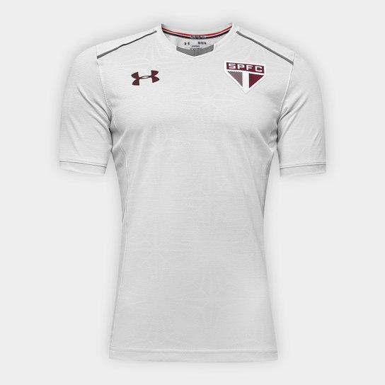0deeaf64878 Camisa de Treino São Paulo 17 18 Under Armour Masculina - Cinza ...