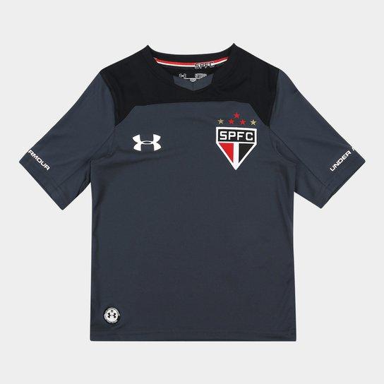 Camisa São Paulo Infantil Goleiro 17 18 s nº Under Armour - Chumbo e ... a01b49a81207f