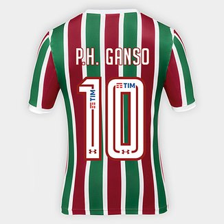 49cd5dc377439 Camisa Fluminense I 17 18 P.H. Ganso nº 10 Torcedor Under Armour Masculina