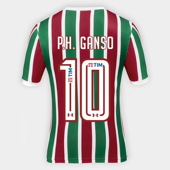 86d95436a4 Camisa Fluminense I 17 18 P.H. Ganso nº 10 Torcedor Under Armour Masculina  - Verde