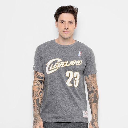 Camiseta NBA Cleveland Cavaliers Mitchell   Ness Nº 23 Lebron James  Masculina - Cinza 1a7a4a2e16708