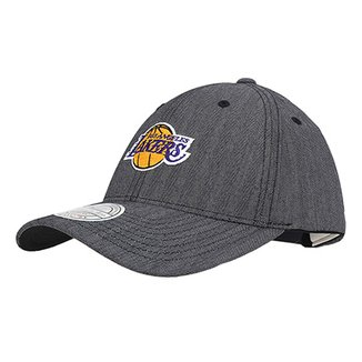 Boné Mitchell   Ness NBA Los Angeles Lakers Aba Curva 4fc6f1881b3