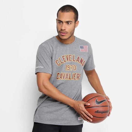 Camiseta NBA Cleveland Cavaliers Mitchell   Ness Established Year Masculina  - Cinza 288460e16c3ac