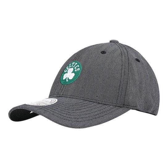 Boné Mitchell   Ness NBA Boston Celtics Aba Curva - Cinza - Compre ... 4b6ffa4717d