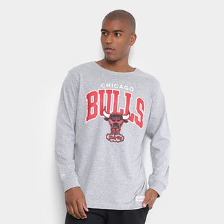 66b7381b61 Camiseta Mitchell   Ness NBA Bulls Team Arch Masculina