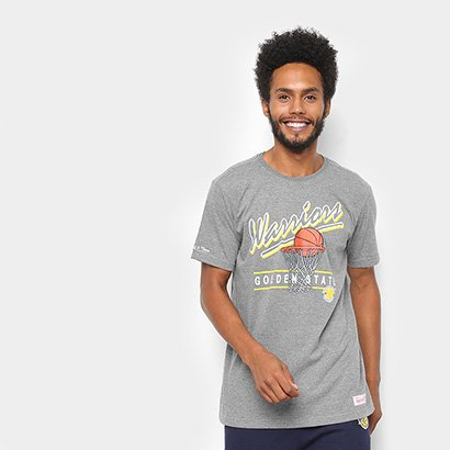 Camisa Mitchell & Ness Drive To The Basket Golden State Warriors Masculina