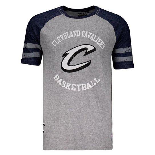 00784c3bac1fd Camiseta Mitchell   Ness NBA Cleveland Cavaliers Masculina - Cinza ...