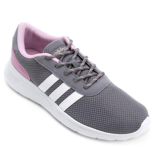 Tênis Adidas Lite Racer W Feminino - Cinza - Compre Agora  3dd5bfae47380