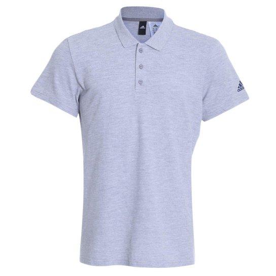 681b442debd Camisa Polo Adidas Essentials Básica Masculina - Cinza - Compre ...