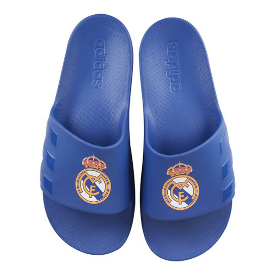 new photos 3129b e11d1 Chinelo Real Madrid Adidas Aqualette CF - Azul Royal