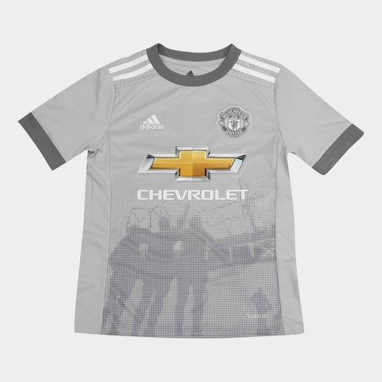 cdcf00d919 Camisa Manchester United Infantil Third 17/18 - S/N Torcedor Adidas - Cinza