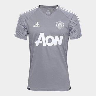 5d433cc18f454 Camisa de Treino Manchester United 17 18 Adidas Masculina