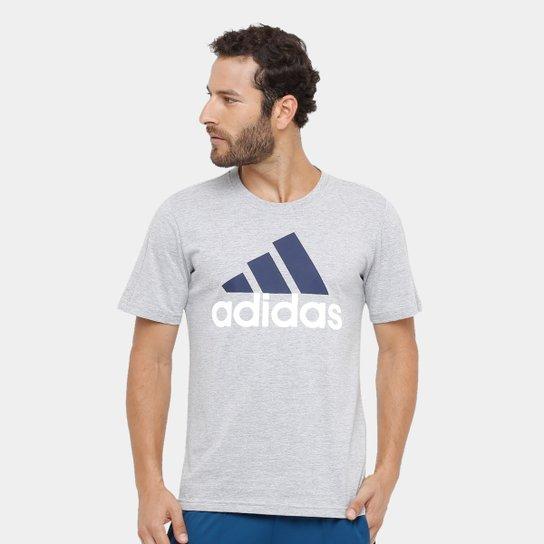 475aca5a5b Camiseta Adidas Essentials Linear Masculina - Cinza - Compre Agora ...