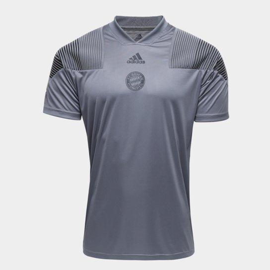 47c930cd2a470 Camiseta Bayern de Munique Adidas Masculina - Cinza - Compre Agora ...