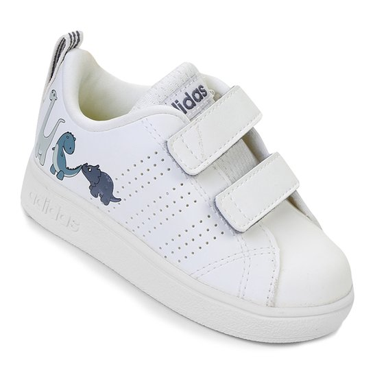 c73dcfb04f0 Tênis Infantil Adidas Vs Adv Cl Cmf - Branco e Cinza - Compre Agora ...