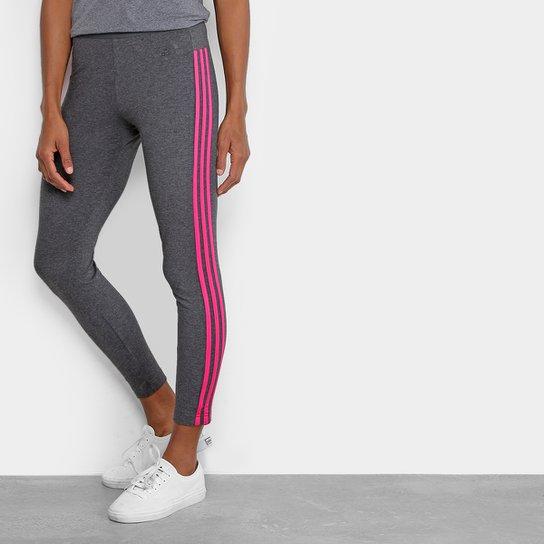 Calça Legging Adidas Essential 3S Feminina - Cinza - Compre Agora ... 64d3e920085ed