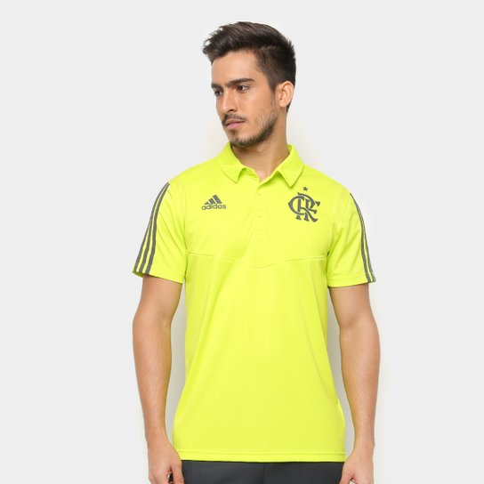 50896d18ac7be Camisa Polo Flamengo Adidas Treino Masculina - Cinza - Compre Agora ...