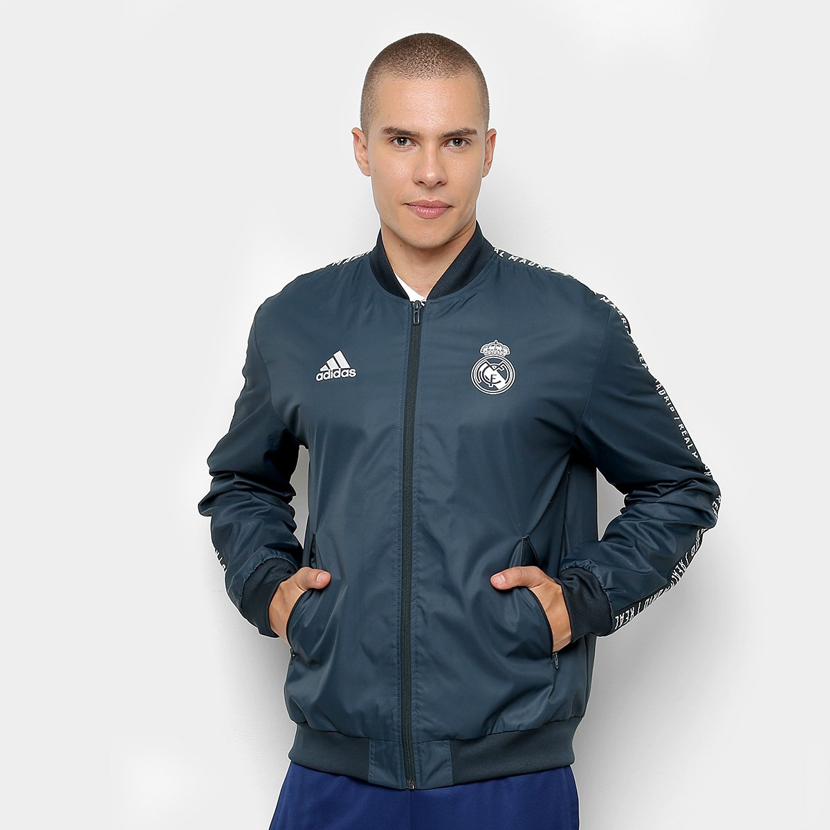 Foto 1 - Jaqueta Real Madrid Hino Adidas Masculina