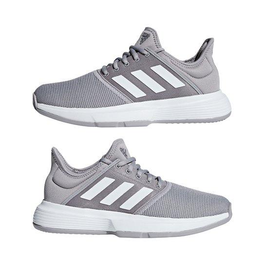 9a3314912f Tênis Adidas Gamecourt Feminino - Cinza - Compre Agora