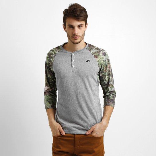 f083a54174 Camiseta Nike Sb Dri-Fit Slv Fern Henley 3 4 - Compre Agora