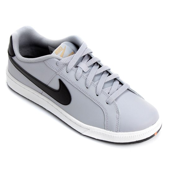39cf8a225262f Tênis Couro Nike Court Royale Masculino - Cinza | Netshoes