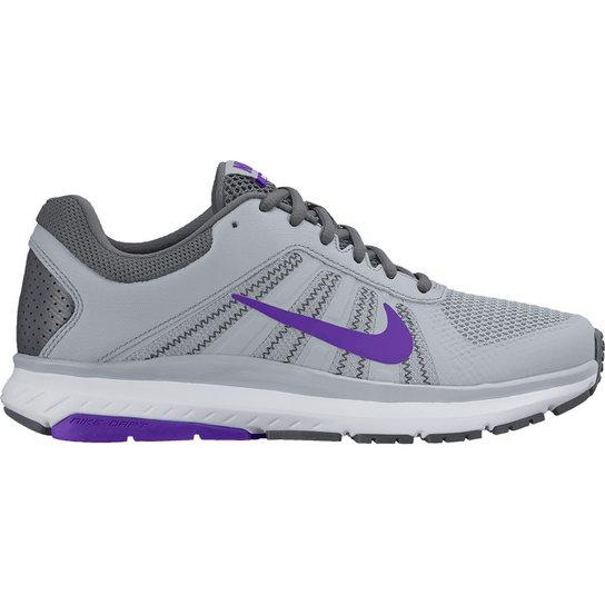 bdb6ae4b3 Tênis Nike Dart 12 MSL Feminino - Cinza e Roxo - Compre Agora