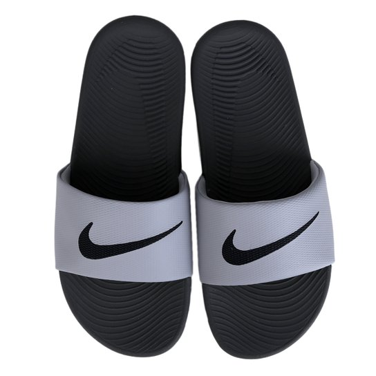 d92195b06850f Sandália Nike Kawa Slide Masculina - Cinza - Compre Agora