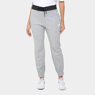 15ea8cd119 Calça Moletom Slim Nike Av15 Pant Flc Feminina