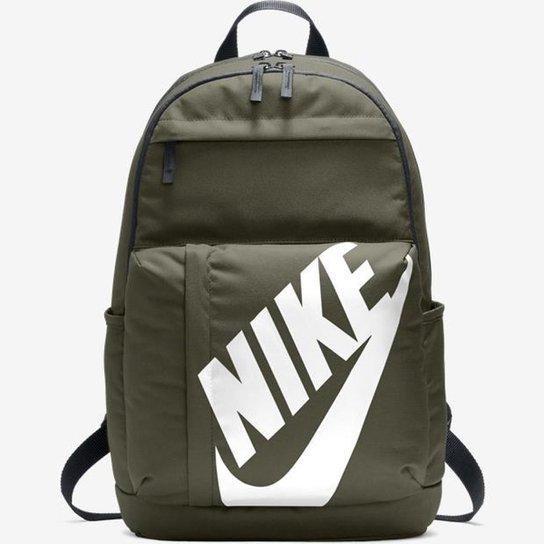 Mochila Nike Sportswear Elemental - Verde Militar e Branco - Compre ... f5d2b150edc08