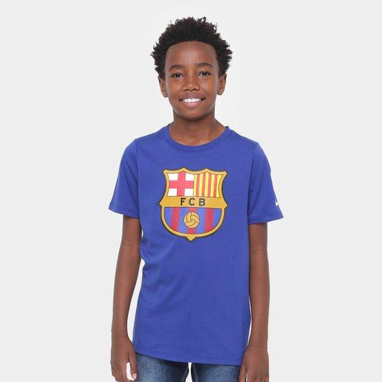 Camiseta Barcelona Infantil Nike Evergreen Crest - Compre Agora ... deb5a708a29ed