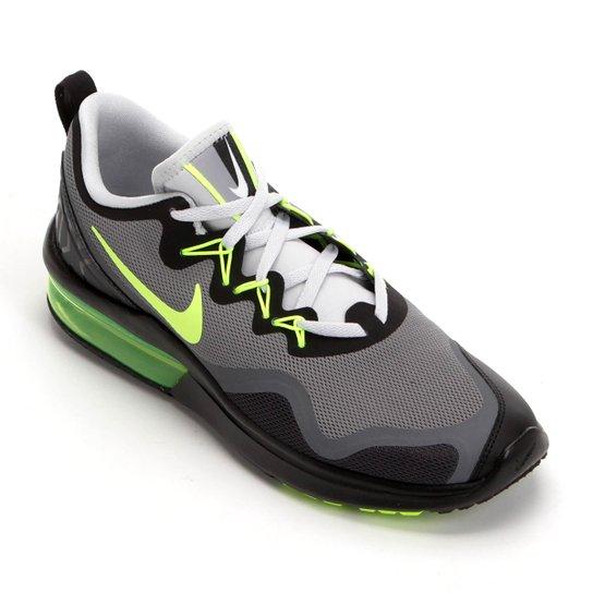 06bc90ef3cf780 Tênis Nike Air Max Fury Masculino - Cinza e Verde Limão | Netshoes