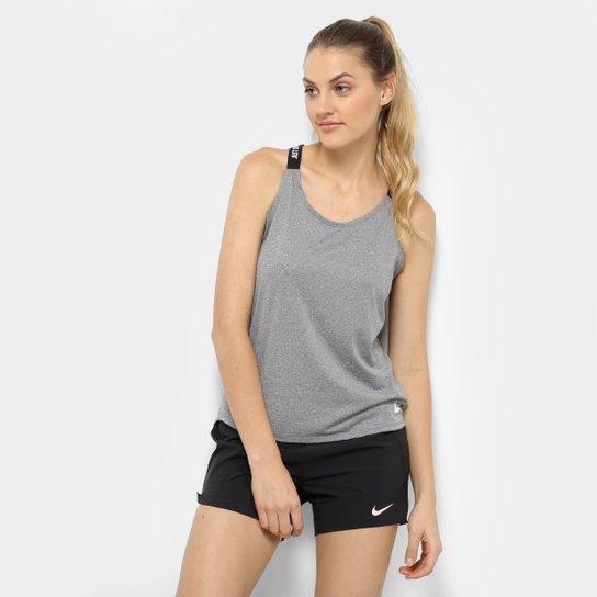 8b6d8a81c1 Regata Nike Dry Elastka Feminina - Cinza - Compre Agora