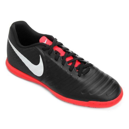 66fe9a279e Chuteira Futsal Nike Tiempo Legend 7 Club IC - Preto e Vermelho ...
