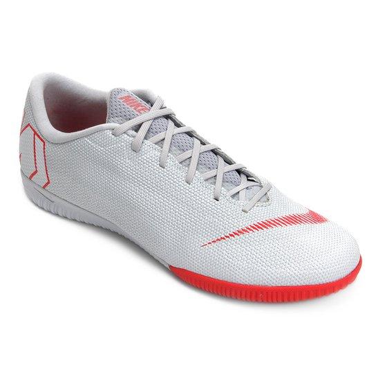 7190948f40887 Chuteira Futsal Nike Mercurial Vapor 12 Academy - Cinza - Compre ...