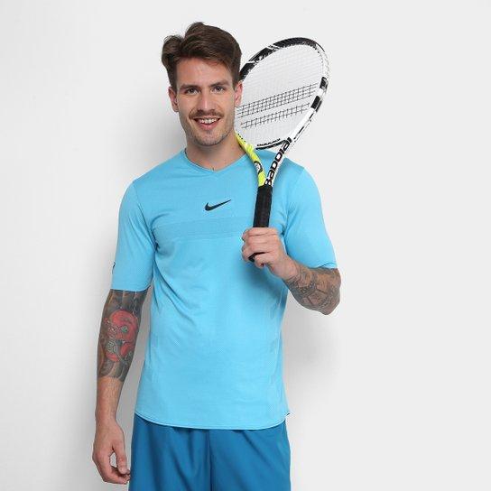 03e81341c4 Camiseta Nike AeroReact Rafa Challenger Masculina - Azul Royal ...