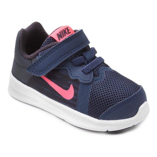 Tênis Infantil Nike Downshifter 8 Gtv Com Velcro Feminino - Azul ... c258ab87cb477