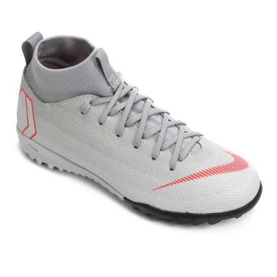 596a523f3c Chuteira Society Infantil Nike Mercurial Superfly 6 Academy GS TF - Cinza